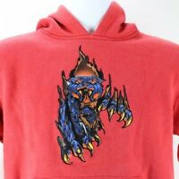 Vtg JNCO M Black Panther Red Sweatshirt Hoodie Streetwear Rap Hip Hop OG R&B 90s
