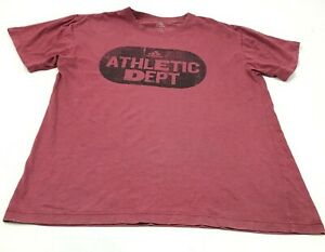 Adidas Athletic Department Shirt Size Large L Red Short Sleeve Tee Logo Graphic