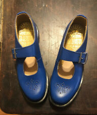 Dr Martens Made In England Vintage Mary Jane - Blue Leather Shoes US 7