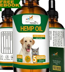 Hemp Oil for Pets 30ml by Pet Priority FREE EBOOK High Strength ON AMAZON