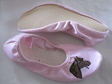 Bleyer GYMNASTIKSCHUHE Turnschläppchen Schuhe Ballerinas rosa Pferdekopf Pferd