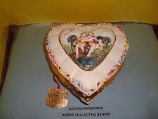 Italian Ceramic Painted R. CAPO DI MONTE  Jewelery / Keepsake Box Hand Painted
