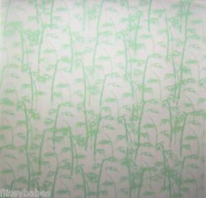 "5 x 12"" Green Bamboo Patterned Vellum 120gsm NEW"