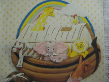 Vintage Butterick 4728 NOAH'S ARK QUILTED STUFFED WALL HANGING Sewing Pattern