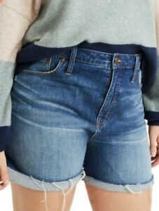 New Madewell High-Rise Denim Jean Shorts Women's Size 32