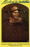 Eddie Mathews Autographed Hall of Fame Card With Scarce FULL Signature