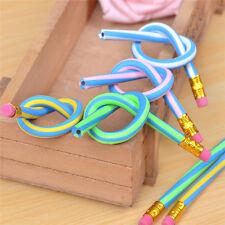 3pcs Soft Flexible Bendy Pencil Magic Bend Kids Children School Fun Equipment AU