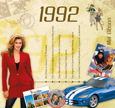 25th Birthday or Anniversary Gift - 1992 Compilation Pop CD and Greetings Card