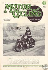 VTG 1946 Motor Cycling Magazine TRIUMPH Motorcycle Cycle Riding COVER Art Ad
