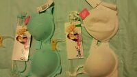 Maidenform Sweet Expressions Girls Bra, Sz 32A & 34A, White or Blue - New w/ Tag
