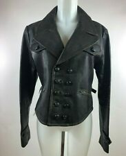 VNTG Ralph Lauren  Polo  Brown leather Double Breasted Bomber Jacket SZ XL