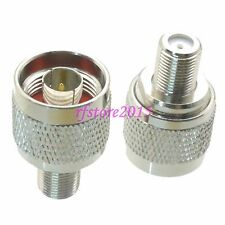 1pce Adapter Connector N male plug to F TV female jack straight for TV antenna