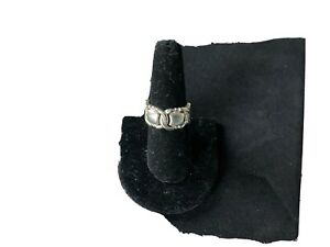 Sterling silver buckle ring size 7