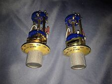 Pair of Unidex 249 Switches w/ Load Full Scale Knobs - 2 Blue Wafers - USED VGC