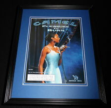 2001 Camel Cigarettes Pleasure to Burn Framed 11x14 ORIGINAL Advertisement