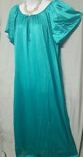 GREEN TRICOT NYLON ANKLE LENGTH NIGHTGOWN  SIZE 2X GIFT
