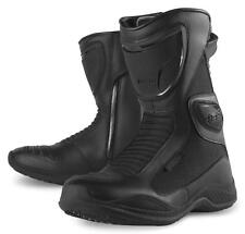 Icon Reign Waterproof Women's Boots Black Size 7.5 3403-0290 Motorcycle Boot