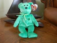 """""""""""DUBLIN"""""""""""" Beanie Baby by TY NEW IN HIS GREEN SUIT BORN IN 2002"""