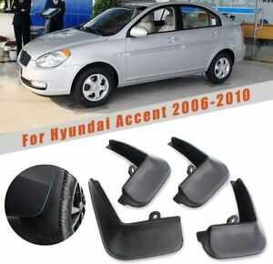 Car Mudguards for Hyundai Accent 2006-2010  Splash Accessories Front and Rear