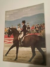 Vintage Montreal 1976 Olympic Game Equestrian Sports Program