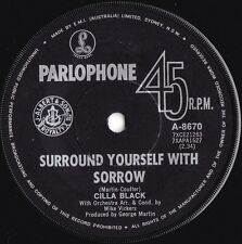 Cilla Black ORIG OZ 45 Surround yourself with sorrow Girl Group Pop '69