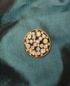 Antique Georgian Button Diamante jewels on Brass