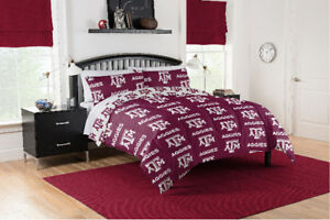 Texas A&M Aggies Full Comforter & Sheet Set, 5 Piece NCAA Bedding, NEW!