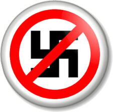 "Anti Nazi 25mm 1"" Pin Button Badge Anti-fascism stop racism Political protest"