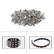 Screwback Studs Silver Spike Cone Smooth Finish DIY Leathercraft Shoes Jackets