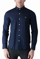 Duck and Cover Men Cotton Shirt Slim Fit Casual Long Sleeve Oxford Birch Fashion M Navy