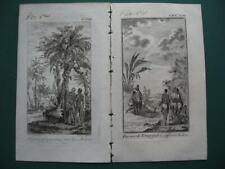 1749 - VOYAGES PREVOST - GUINEA BISSAU AFRICA 2 small engravings KAZEGUT