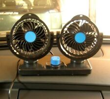 Car Double Interior Cooling Fan w/ or w/o AC 12V Adjustable 360° Rotation 6.5W