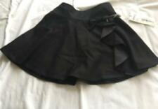 ALETTA COUTURE (Made In Italy) Girls Sz 6yr (116) BLACK SKIRT W/BOW - NWT