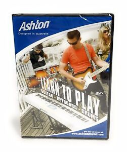 Ashton Learn To Play Guitar - Keyboard - Drums Made for Beginners DVD Free Post