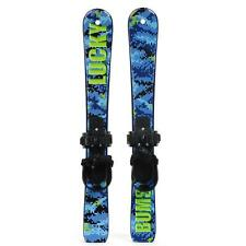 Lucky Bums Kid's First Snow Skis  - Digi Blue Ski Trainers