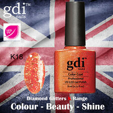 UK SELLER Gdi Nails Diamond Glitters K18 UV/LED Gel Soak Off nail polish
