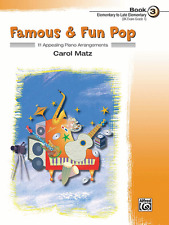 """""""FAMOUS & FUN-POP"""" ELEMENTARY PIANO MUSIC BOOK LEVEL 3-BRAND NEW ON SALE!!"""