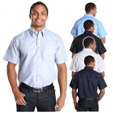 Unifarben-Maschinenwäsche Klassische Herrenhemden mit Kurzarm-Ärmelart aus Baumwolle