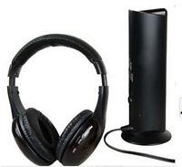 5 in 1 HIFI Bass Stereo Headphone H2 Wireless Headset Earphone For TV DVD MP3 PC