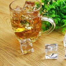 25pc Drinks Crystal Clear Fake Artificial Acrylic Ice Cubes Square Party Display