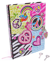 Girls Secret Diary with Lock Notebook 300 Pages Journal Padlock 2 Keys for Kids
