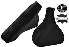 Engranaje De Cuero Negro y Negro & Polaina de freno de mano se adapta Opel Astra MK5 H 04-09