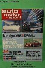 AMS Auto Motor Sport 21/84 * BMW Alpina B6 DB 190 E 2.3-16 Ferrari 512 BB