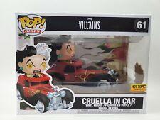 No la menta Cruela de Vil en coche Funko Pop Ride Vinilo Figura Hot Topic Exclusivo
