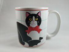 Vintage Vandor 1987 Porcelain Cat with Car SaltPeppper Shakers
