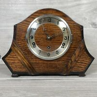 Vintage Westminster Chiming Mantel Clock Mechanical With Pendulum Working No Key