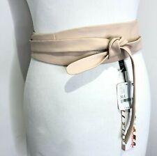 BNWT Ada wide blush leather wrap tie cinch waist belt One size NEW Free People