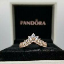 NEW Authentic PANDORA Princess Wishbone Crown Ring  SIZE 5,6,7,8 box/pouch
