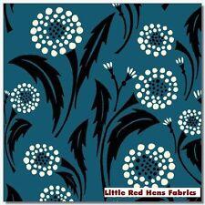 "BTY Blue With Dot Flowers ""Bryant Park"" Wilmington 100% Cotton Quilt Shop Fabric"