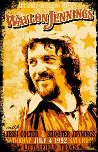 Waylon Jennings Tour Poster